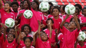 Local Girls in action during a 'Live Your Goals' event. Image: FIFA via Getty Images