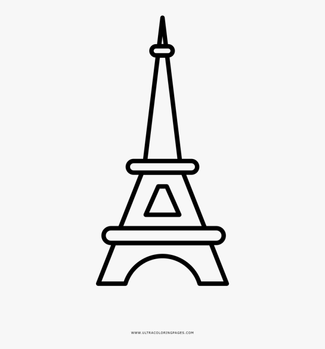 Eiffel Tower Coloring Page, HD Png Download , Transparent Png