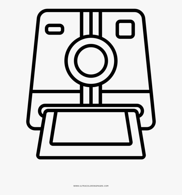 Polaroid Camera Coloring Page, HD Png Download , Transparent Png