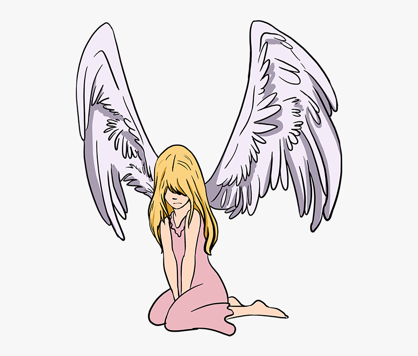 How To Draw Fallen Angel Fallen Angel Drawing Easy Hd Png Download Transparent Png Image Pngitem