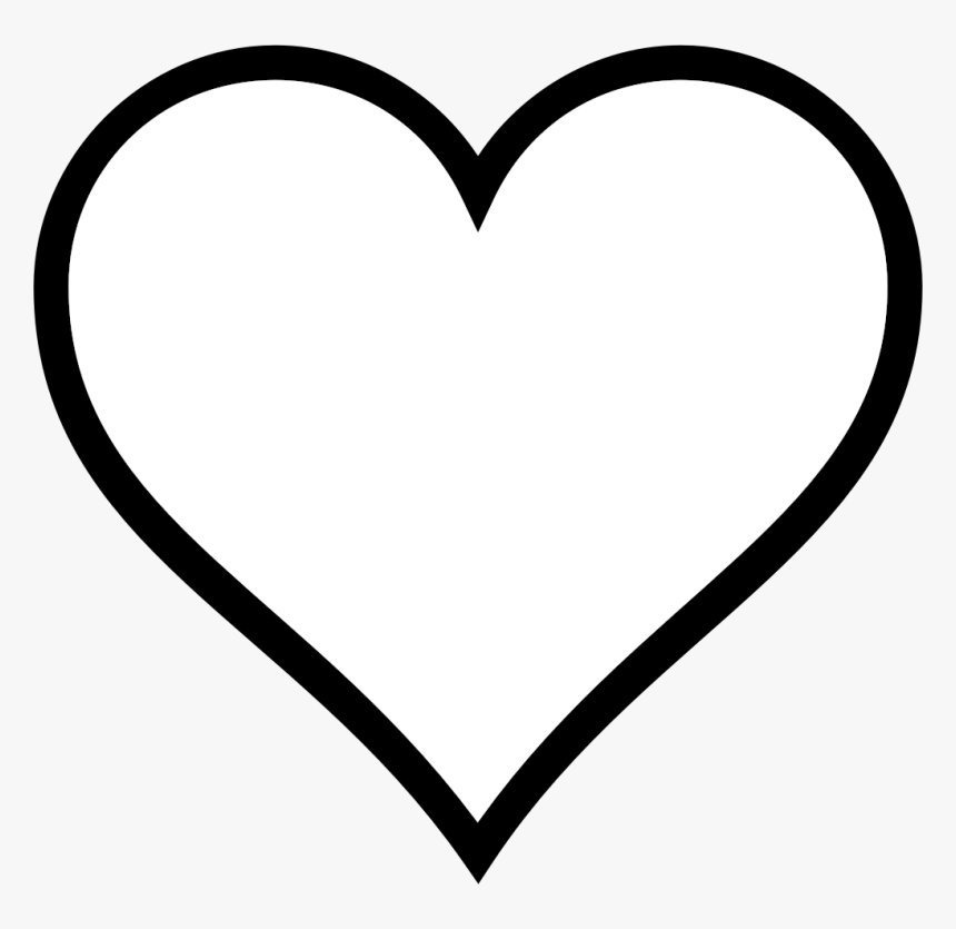 Download Heart Clipart Black And White Outline - White Love Heart ...