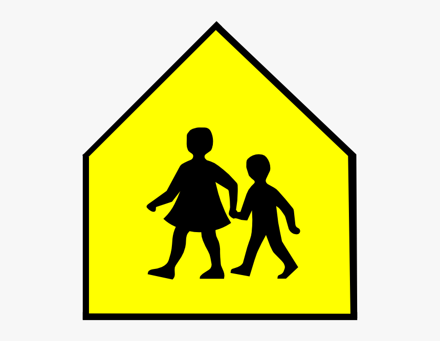 Download School Crossing Sign Vector Clipart School Clipart Triangle Shaped Objects Hd Png Download Transparent Png Image Pngitem