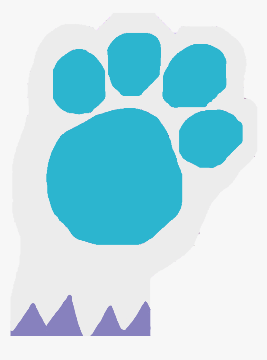 Magenta Blues Clues Paw Print Hd Png Download Transparent Png Image Pngitem