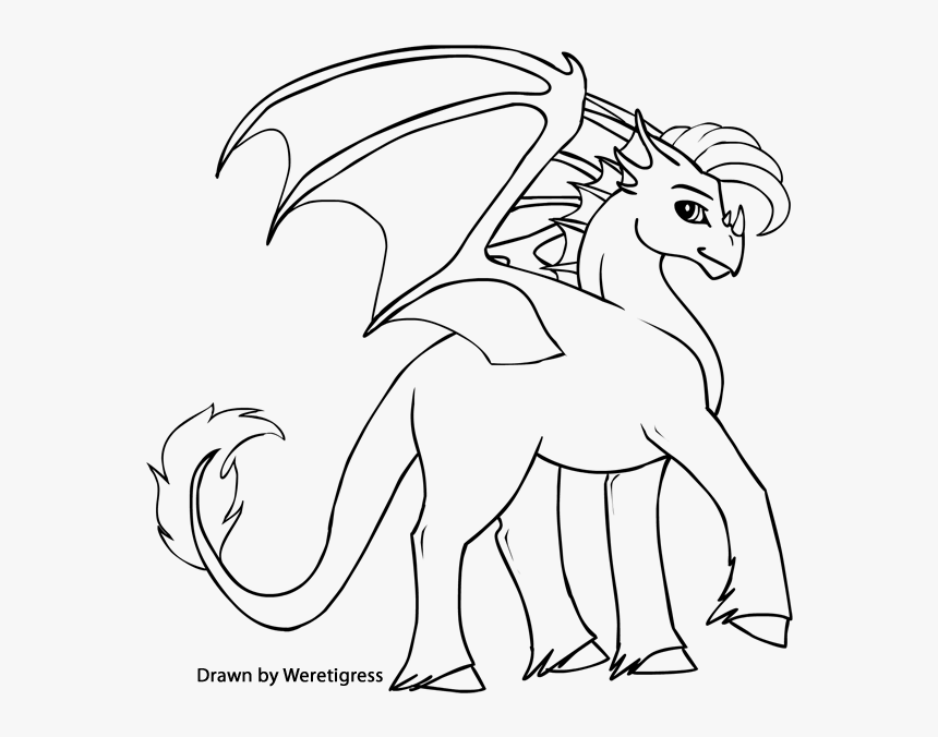 Baby Dragon Coloring Pages To Print Out Line Art Hd Png Download Transparent Png Image Pngitem