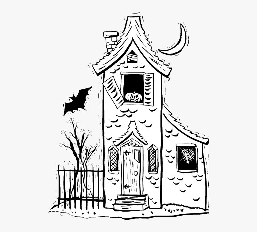Drawing Creepy House Haunted House Sketch Easy Hd Png Download Transparent Png Image Pngitem