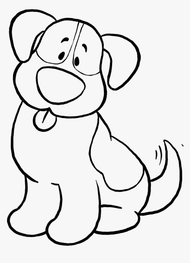 Dog Simple Coloring Page, Printable Dog Simple Coloring, - Dog