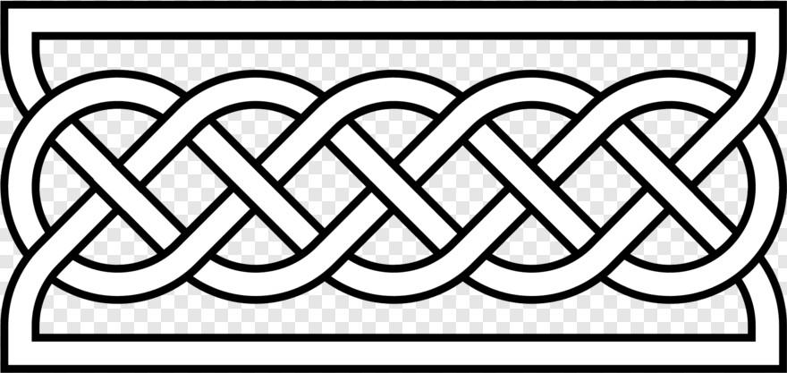 Decorative Horizontal Line Simple Celtic Knot Border Png Download 2000x1000 1120370 Png Image Pngjoy