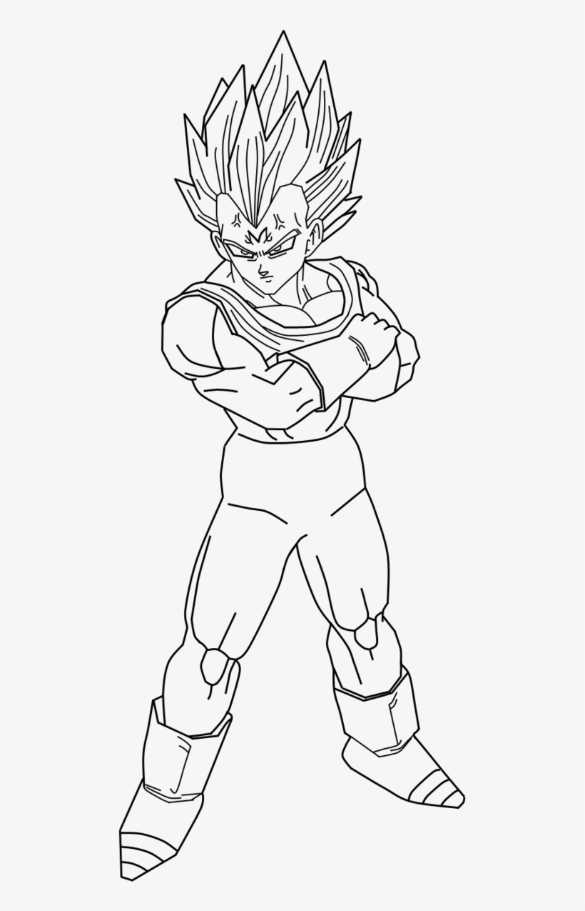 Dragon Ball Z Drawing Vegeta At Getdrawings Vegeta Drawing Full Body Free Transparent Png Download Pngkey
