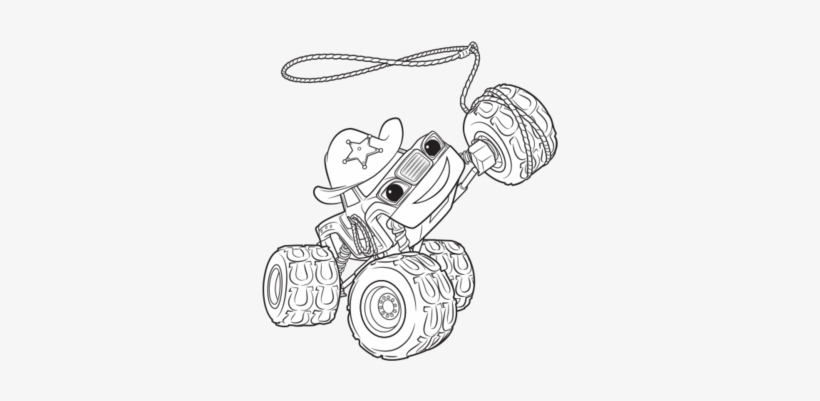 Blaze And The Monster Machines Darrington Coloring Starla Blaze Coloring Page Free Transparent Png Download Pngkey