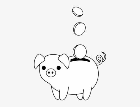 Piggy Bank Clip Art - Easy To Draw Piggy Bank - Free Transparent PNG  Download - PNGkey