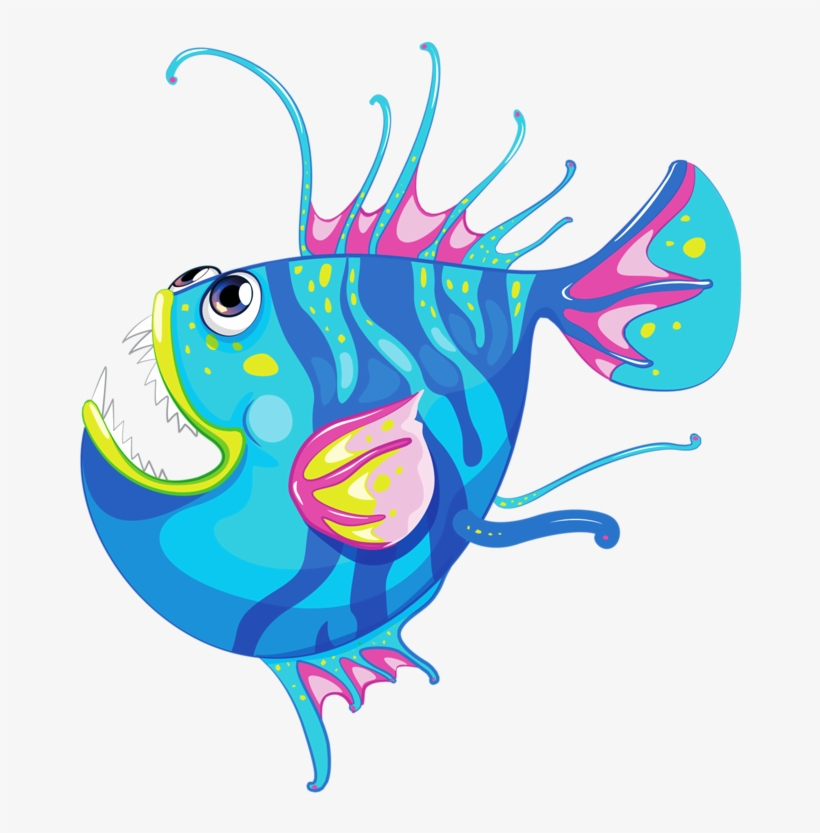 Vector Free Library Angler Fish Clipart At Cartoon Cute Shark Draw Free Transparent Png Download Pngkey