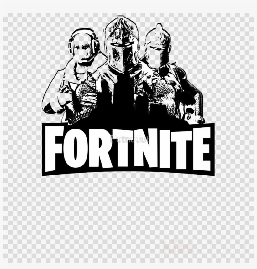 White Transparent Fortnite Logo