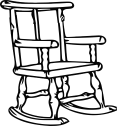 Download Clipart Transparent Stock Clipart Outline Big Image Rocking Chair Outline Png Image With No Background Pngkey Com