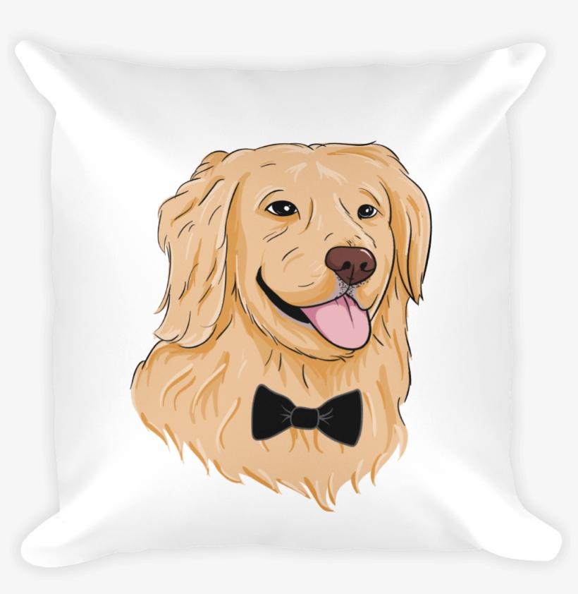 golden retriever pillow funny dog
