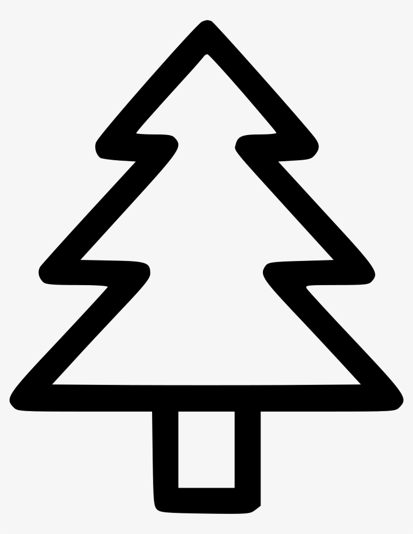Christmas Tree Fir Newyear Holiday Star Comments Christmas Tree Outline Png 784x980 Png Download Pngkit