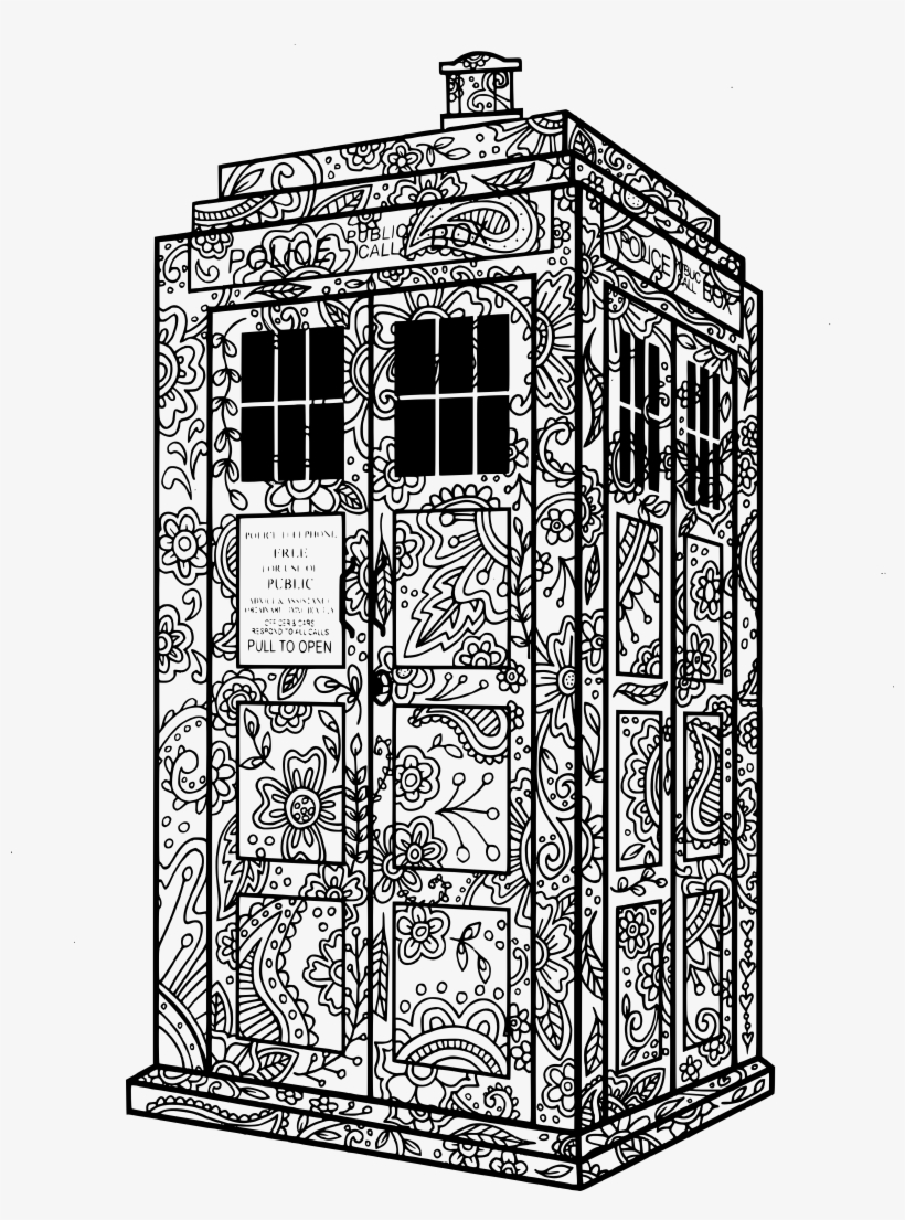 Sonic Screwdriver Supernatural Fans Dr Who Tardis Doctor Who Mandala Coloring Pages 3922x5096 Png Download Pngkit