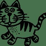 Download Transparent Art Cat Animal Black White Drawing Love Kitty Cats Mug Full Size Png Image Pngkit