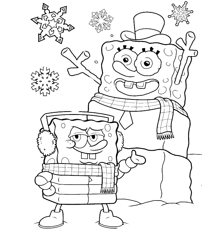 Download Spongebob Christmas Always Stay Cool Coloring Page Spongebob Coloring Pages Full Size Png Image Pngkit