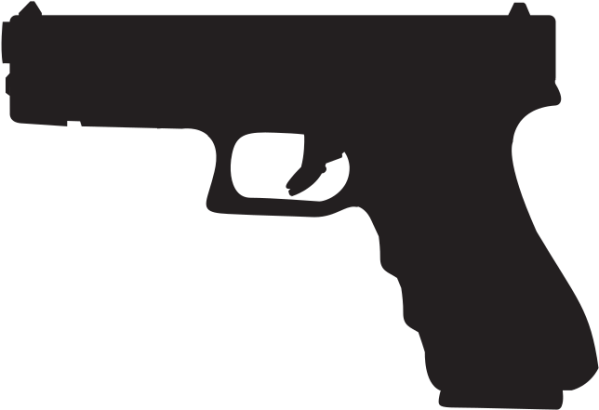 Download Glock 19 Silhouette - Glock 17 - Full Size PNG ...