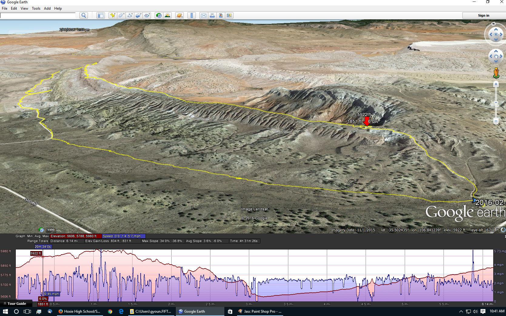 dragon back white mesa bike trail 02 16 2016 hiking in new mexico