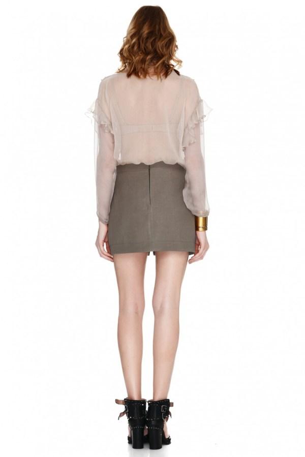 Army Green Mini Skirt - PNK Casual