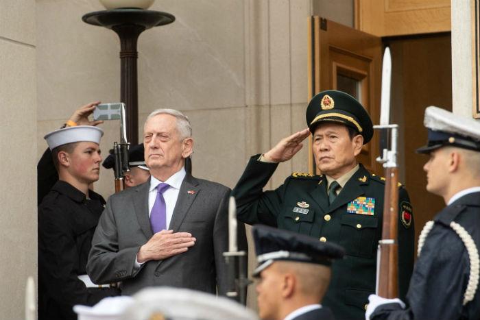 चिनियाँ र अमेरिकी रक्षामन्त्री भेटवार्ता