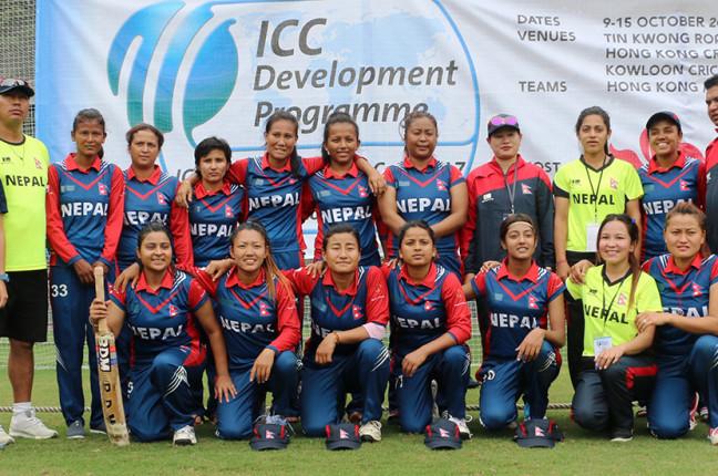 नेपाली महिला क्रिकेट टोली स्वदेश फिर्ता