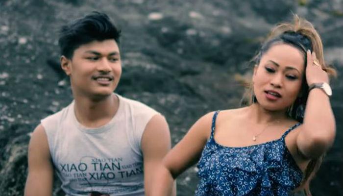 """चलचित्र 'लव जोन' को दोश्रो गीत """"ट्याटु खोपन"""" सार्वजनिक, सुस्मा र राजुको रोमान्स [भिडियो]"""