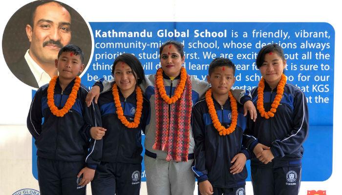 अन्तरराष्ट्रिय गोजुरियो कराँतेमा भाग लिन स्कुले विद्यार्थी धनगढि प्रस्थान