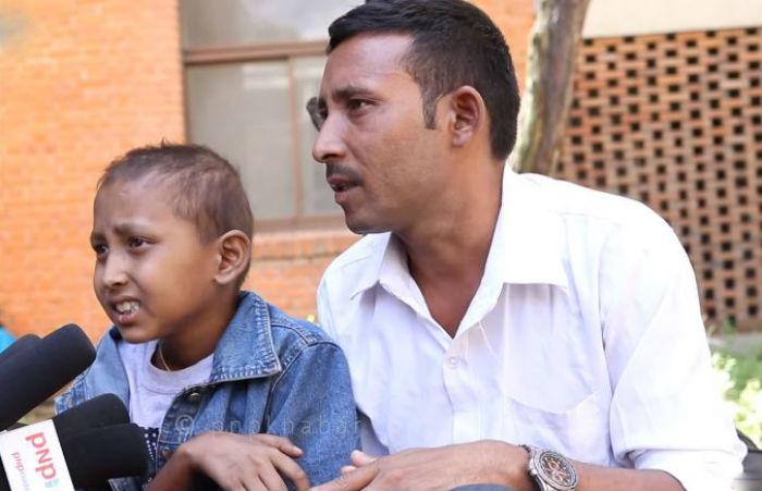 क्यान्सर पिडित बालकका लागि सहयोगको अपिल
