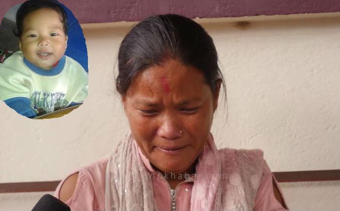 २ वर्षीय छोरा श्रीमान र सौताले आधारातमै लिएर बेपत्ता भएपछि यी महिला रुँदै मिडियामा