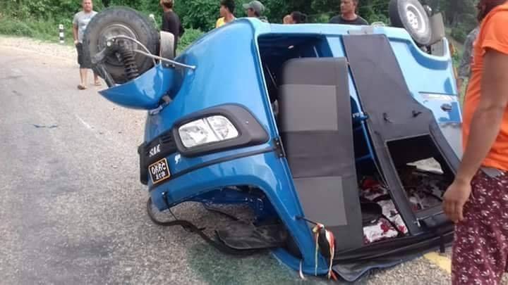 टेम्पो दुर्घटना: एक जनाको मृत्यु, चार  घाइते