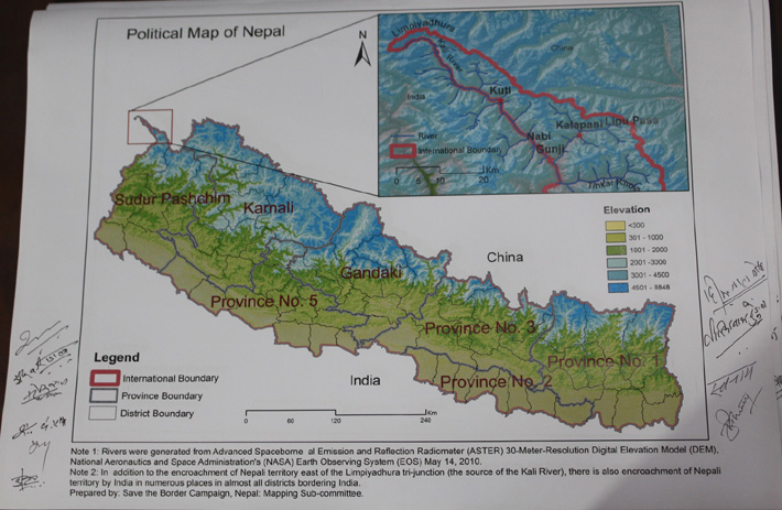 यस्तो छ लिपुलेक र कालापानी समेटिएको नेपालको नक्शा, राष्ट्रसंघसम्म पुर्याइने