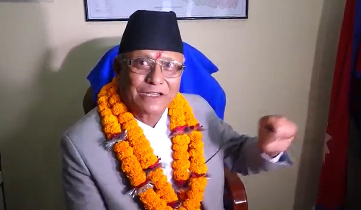 नवनियुक्त उद्योगमन्त्री गजेन्द्रबहादुर हमालद्वारा राजीनामा दिने घोषणा