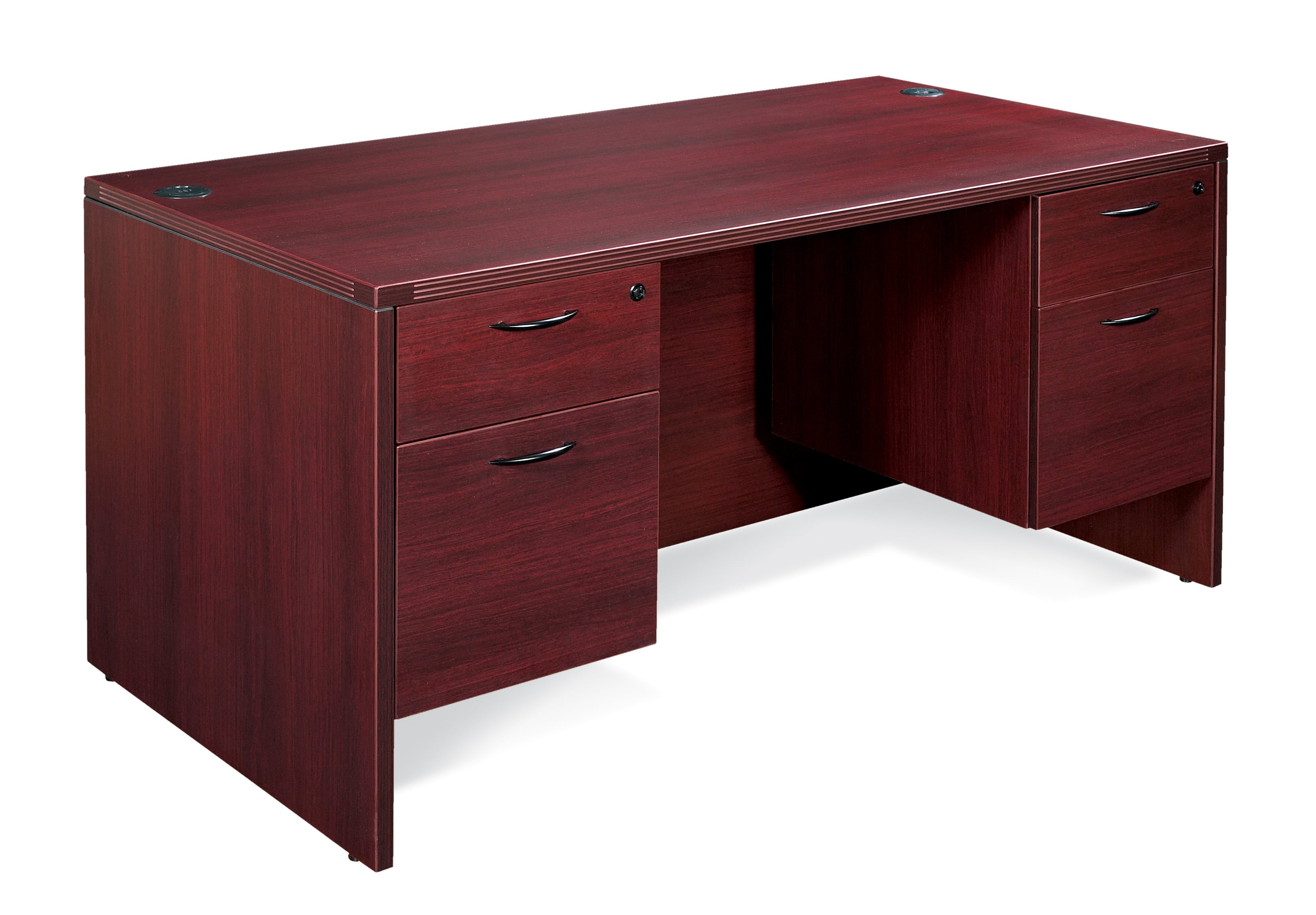 napa double pedestal desk