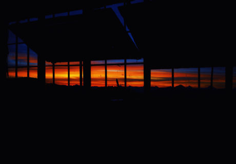 Sunset View from a Fire Lookout