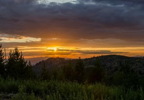Sunset on the Kettles