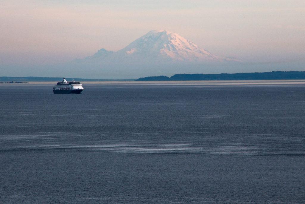 The Keystone Ferry and Mount Rainier