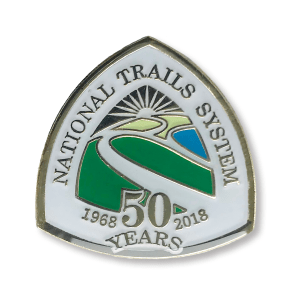 NTS 50th Anniversary White Enamel Pin