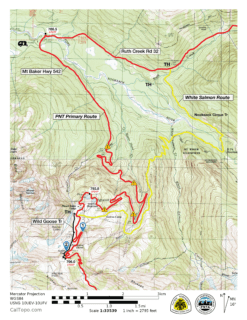 White Salmon Route Map