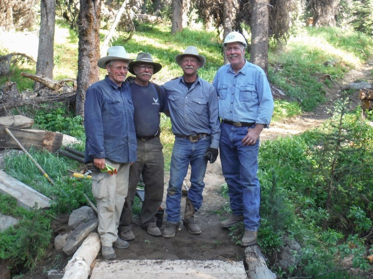 Lewis Trout (left) and volunteers with the Back Country Horsemen