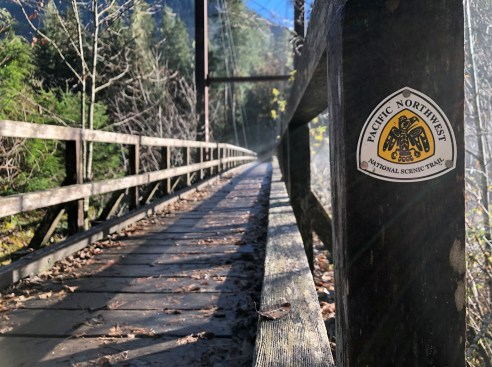 PNTA Crews installed trail markers along the Baker River Trail.