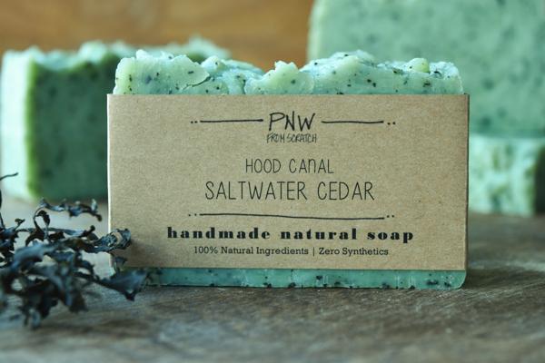 Hood Canal Saltwater Cedar Soap Natural Homemade Soap