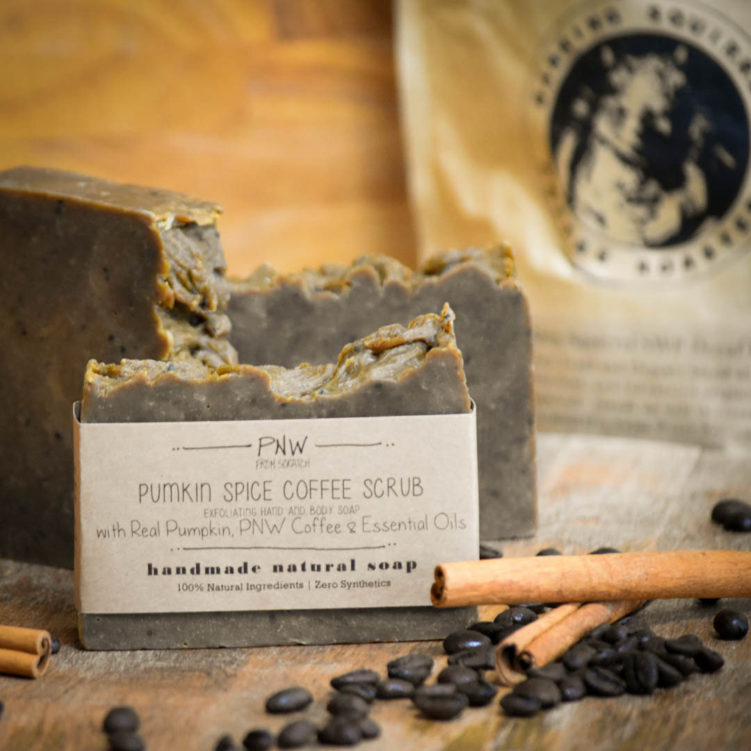 Pumpkin Spice Coffee Scrub Soap – PNW from Scratch Fall Giveaway!