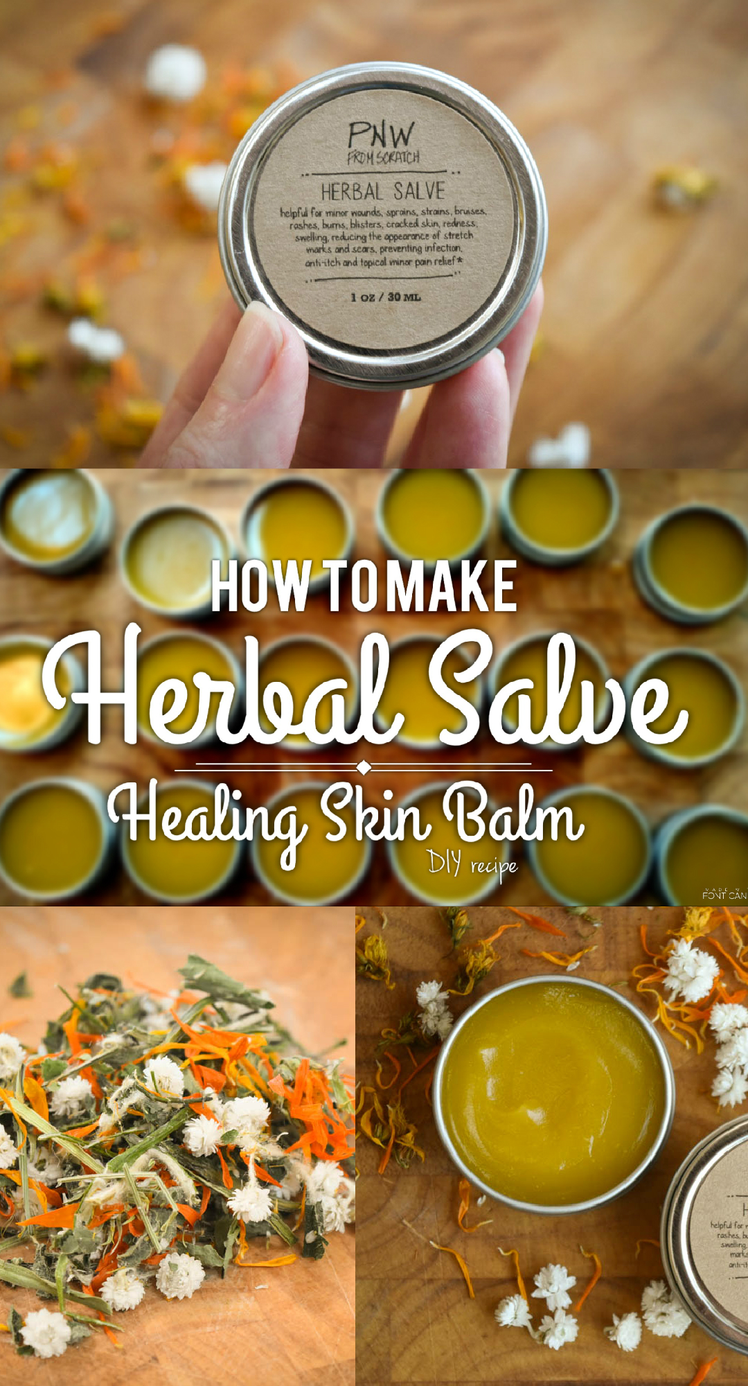 Herbal Salve – DIY Skin Balm Recipe