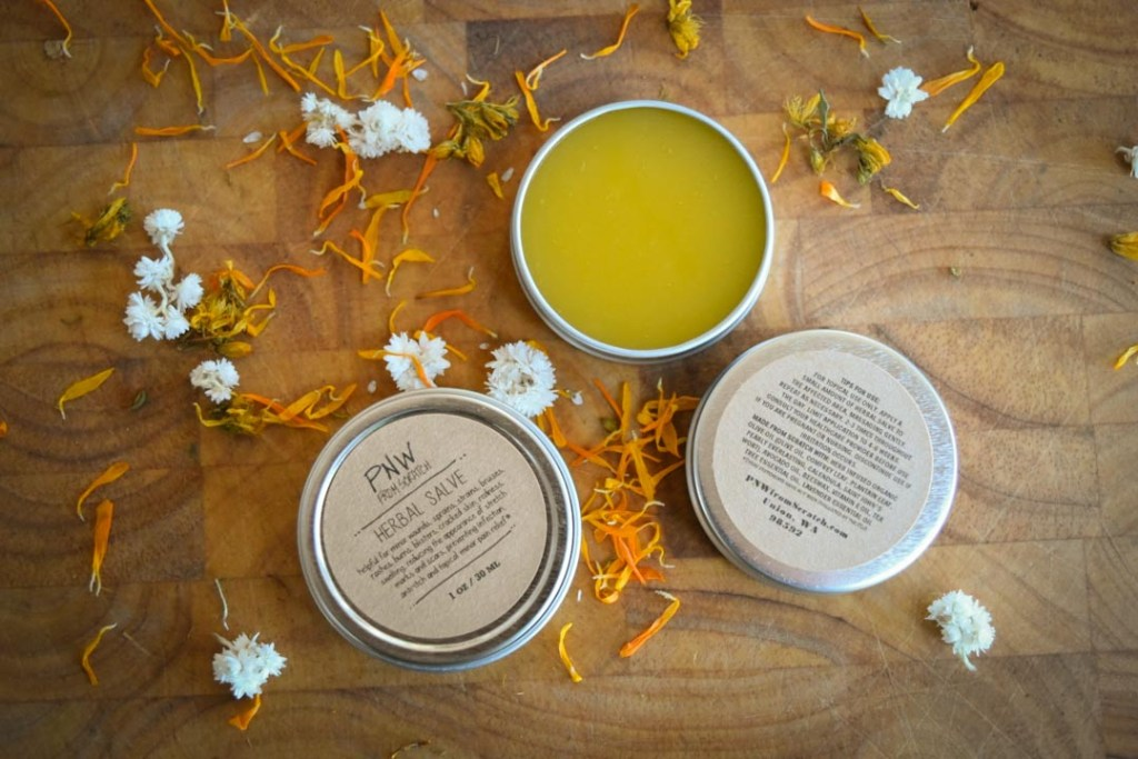 Herbal Salve - DIY Skin Balm Recipe Traditional healing herbs, locally grown or sustainably gathered, then carefully infused into skin-loving olive and avocado oils. This is a healing skin balm that is helpful for minor wounds, sprains, strains, bruises, rashes, burns, blisters, cracked skin, redness, swelling, reducing the appearance of stretch marks and scars, preventing infection, anti-itch, and topical minor pain relief.