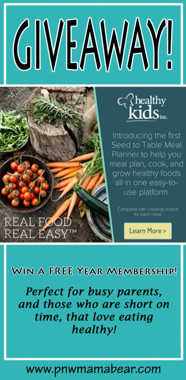 A Healthy Kids Inc. Review by a Busy Mom. PNW Mama Bear. Save Money, Eat Healthy, Meal Plan, Grow your own Vegetables and Herbs and so much more with a Healthy Kids Inc. Subscription. PLUS A GIVEAWAY!
