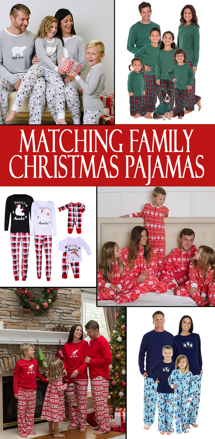 Check out our list of 23 matching holiday pajama sets your family needs this year: A pajama set that emulates your favourite holiday candy. Burt's Bees Baby Family Jammies in Candy Cane Stripe.