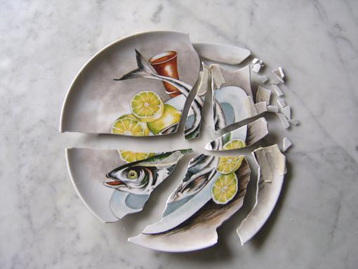 Restauro piatto ceramico 0118cm