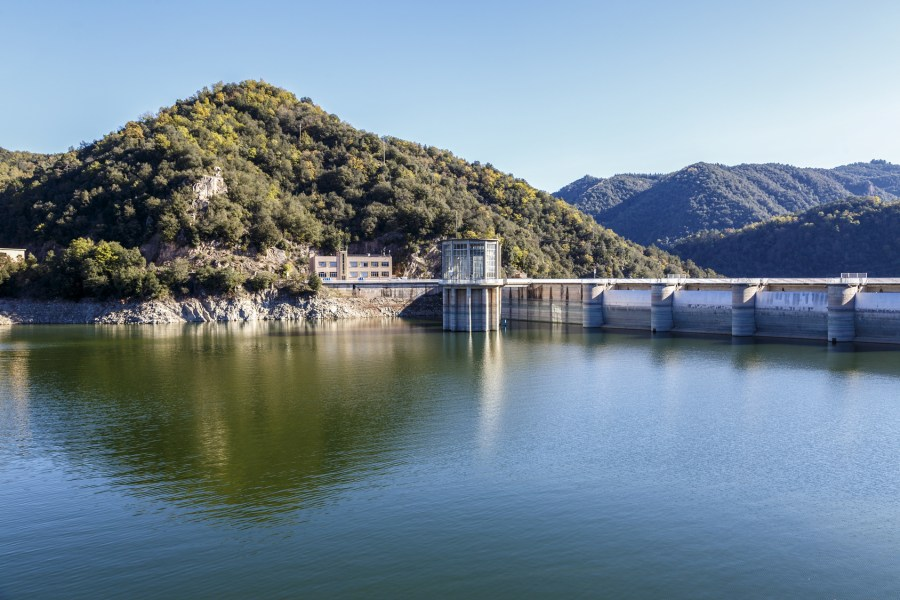 Sau Reservoir detail in Barcelona Spain. Water reserve of the Catalan capital
